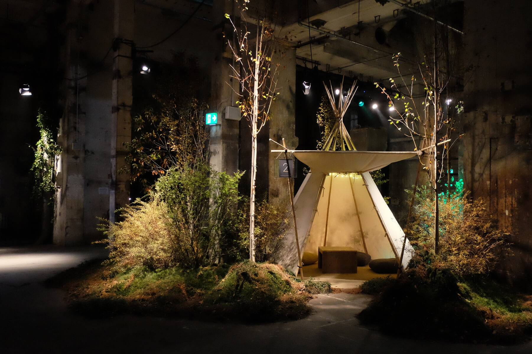 Google, Playtime, Kraftwerk, Berlin, Set Design Berlin, Tee Pee, Industrial Nature