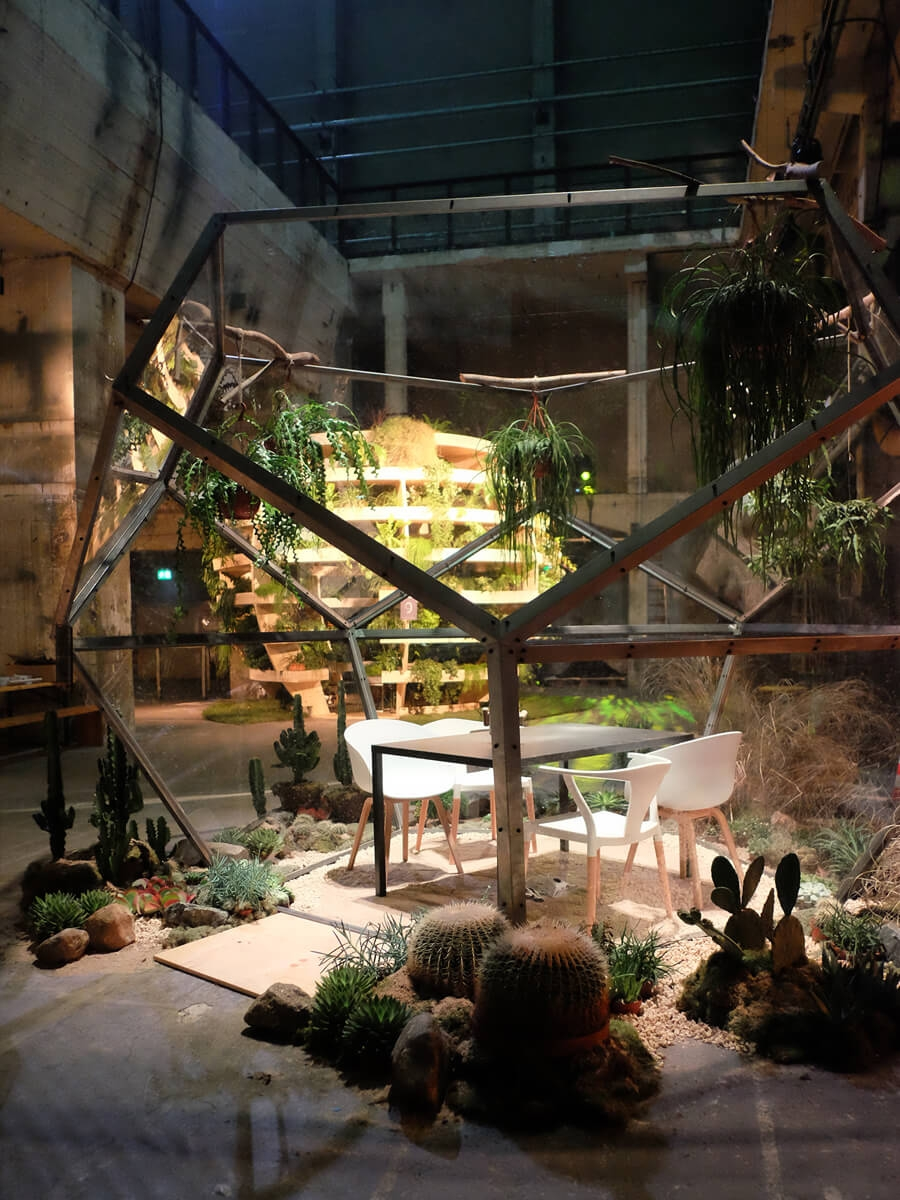 Google, Playtime, Kraftwerk, Berlin, Set Design Berlin, Terrarium, Industrial Nature
