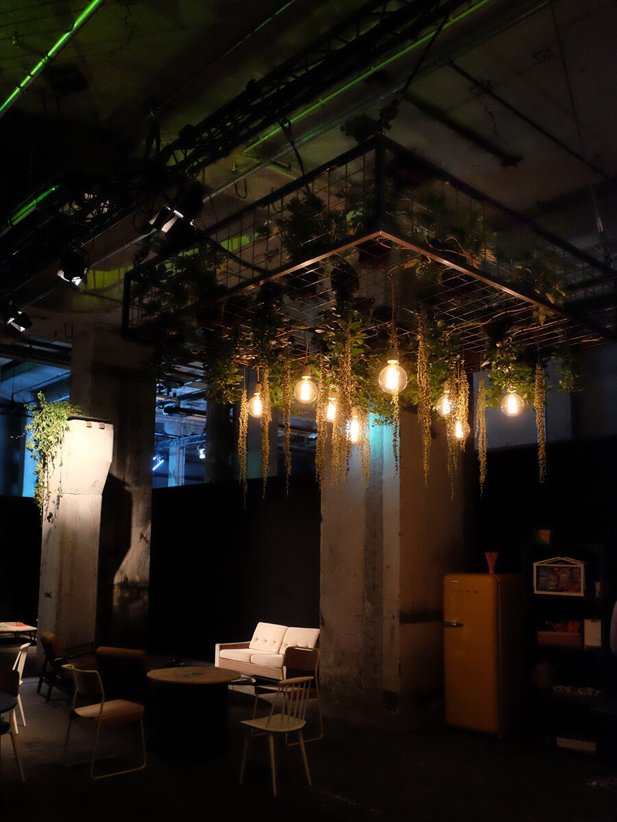 Google, Playtime, Kraftwerk, Berlin, Set Design Berlin, Plant Hanging, Industrial Nature