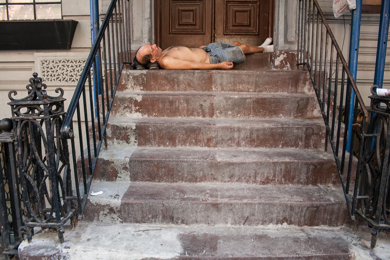 Ruth Bartlett Our Bartlett Photography New York Summer Stoop Sleeping Homeless