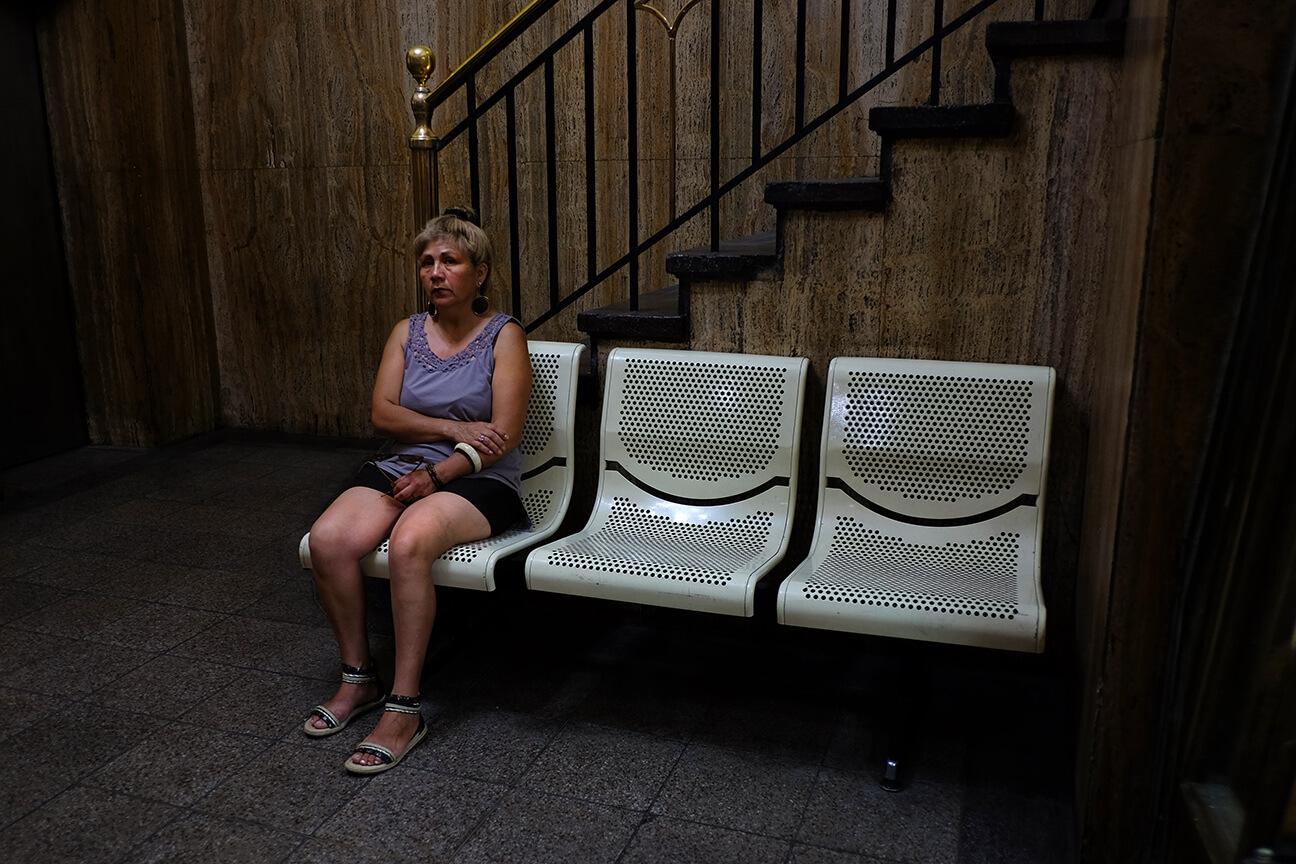 Ruth Bartlett Our Bartlett Photography Waiting Room Woman Santiago Chile